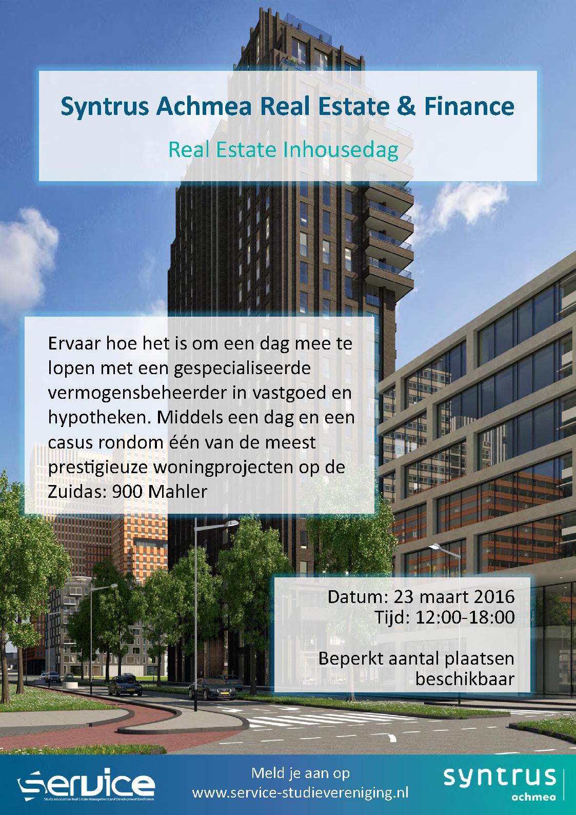 Real Estate Finance : Inhousedag syntrus achmea real estate finance agenda